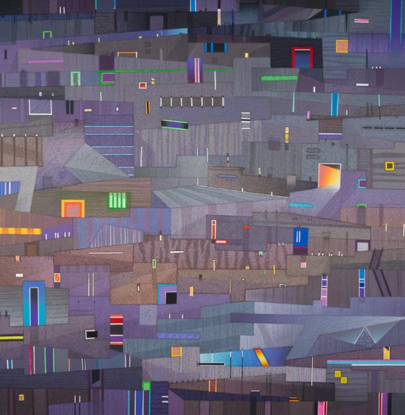 Abstrakcja nowego obrazu miasta.
